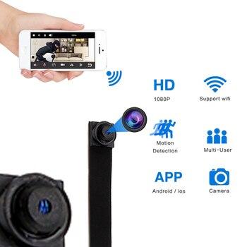 H.264 Mini WIFI Flessibile Della Macchina Fotografica 1080 P Full HD Video Audio Recorder Motion Detection Macchina Fotografica P2P Telecomando Micro Cam- senza barrery