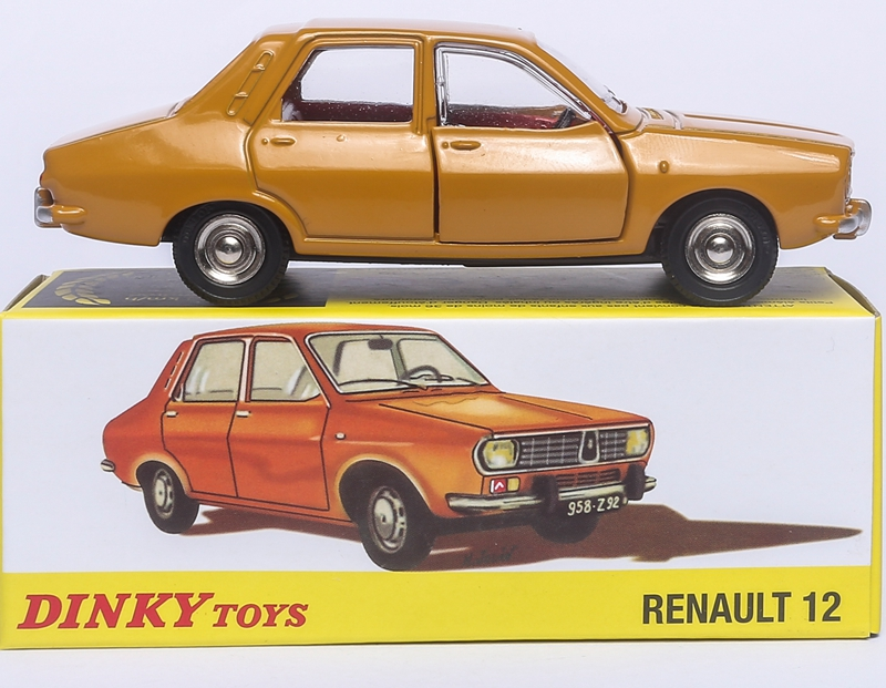 Atlas Dinky Toys 1424 1 43 RENAULT 12 Une Produetion Diecast Car Model Collector