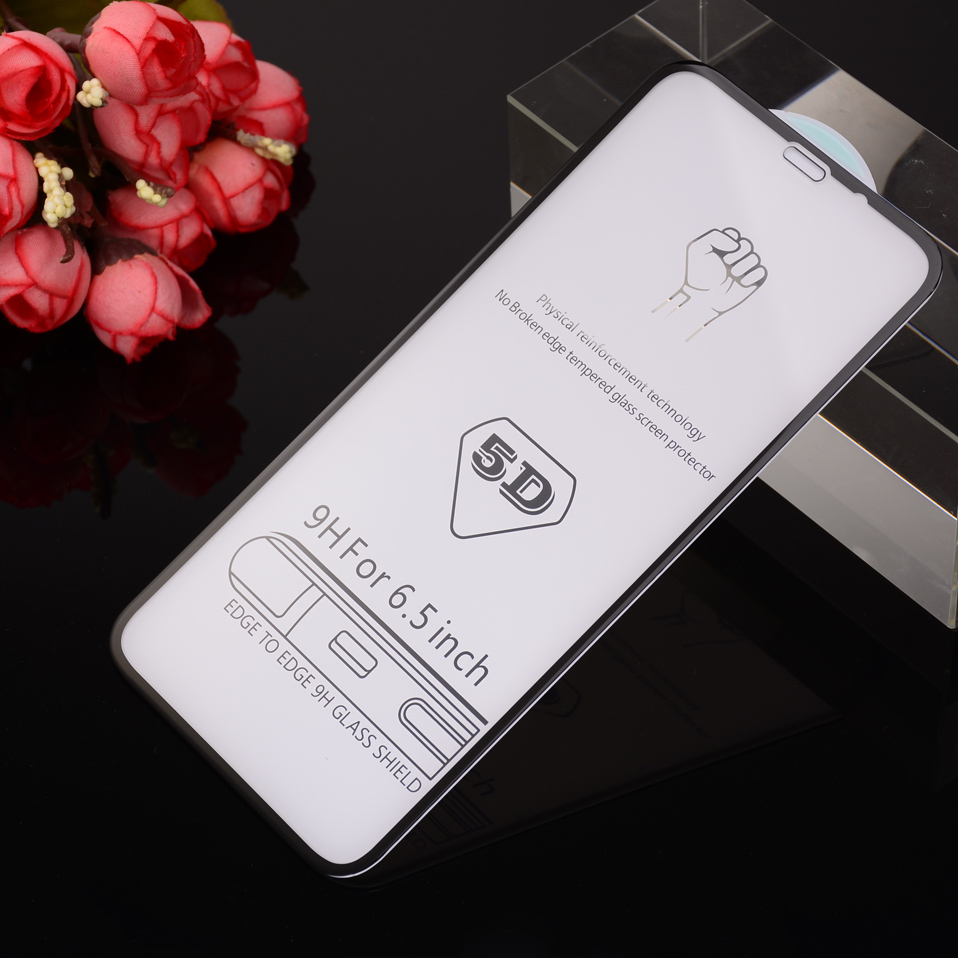 for 5D Glasses iPhone 6 6s Glass Film Full Cover iphone6 Screen Protector for iPhone 6 6s 7 8 plus x XS Max XR Tempered Glass 3D