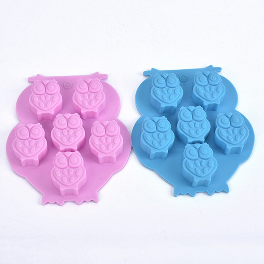 Owl Shaped Silicone Cake Chocolate Mold Diy Ice Cube Tray