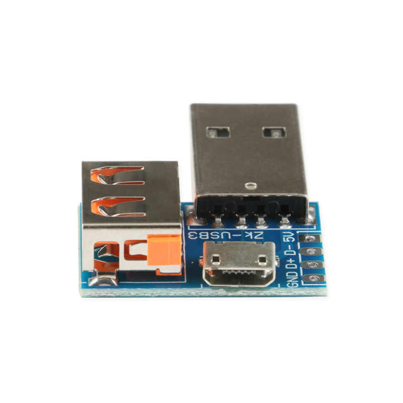3 IN 1 Micro USB หญิง, USB, USB หญิง DIP Interchange อะแดปเตอร์แปลงโมดูลแผง