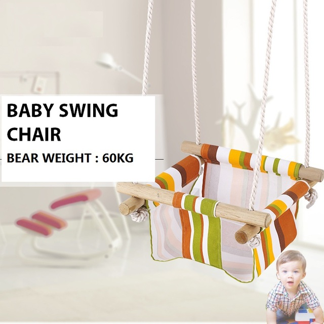 Swing Chair Game La Z Boy Lift Parts Baby Wood Secure Seat Indoor Outdoor Kids Toys Gift For Children Tools Kindergarten