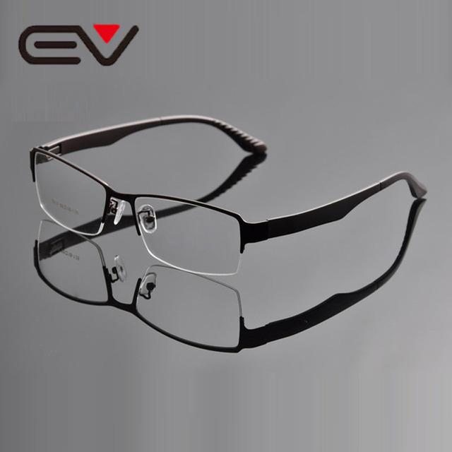 2016 Armações de óculos Homens Super Grande de Grandes Dimensões de Largura Meia-Aro de Metal Óculos Frames Oculos de grau 58-18-138mm Negócios EV0934-1