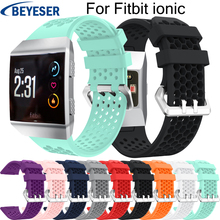 Watchbands for Fitbit ionic Personality sports strap Silicone replacement smart watch band for Fitbit ionic bracelet watchstraps band for fitbit ionic soft silicone replacement sport band strap for fitbit ionic smart fitness watch band sport high quality