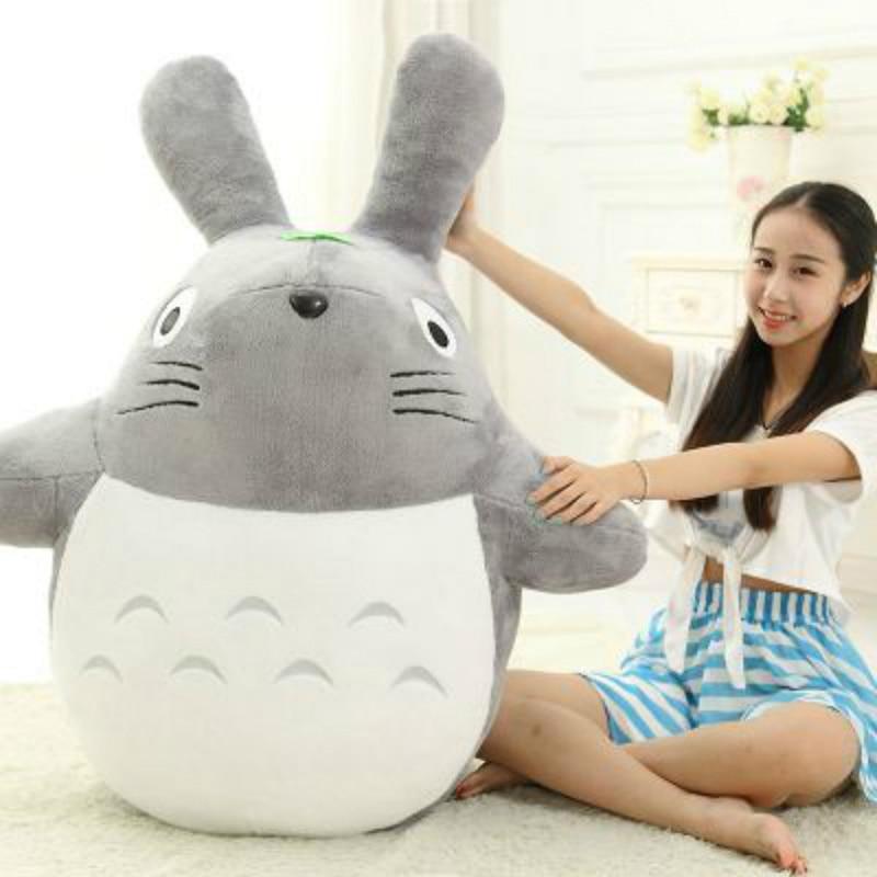 Studio Ghibli sonrisa Hayao Miyazaki Anime de peluche de juguete Totoro nuevo mi vecino suave grande y pequeño bebé de la muñeca regalo para niños de dibujos animados