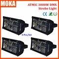 4 Pçs/lote DMX512 Strobe Iluminação Apagão Máxima Intensidade 3000 Watt Xenon Strobe Lâmpada de Descarga de Evento Show de Luzes Estroboscópicas