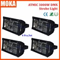 4Pcs/Lot DMX512 Strobe Lighting Blackout Maximum Strobe Intensity 3000 Watt Xenon Discharge Lamp Show Event Strobe Lights