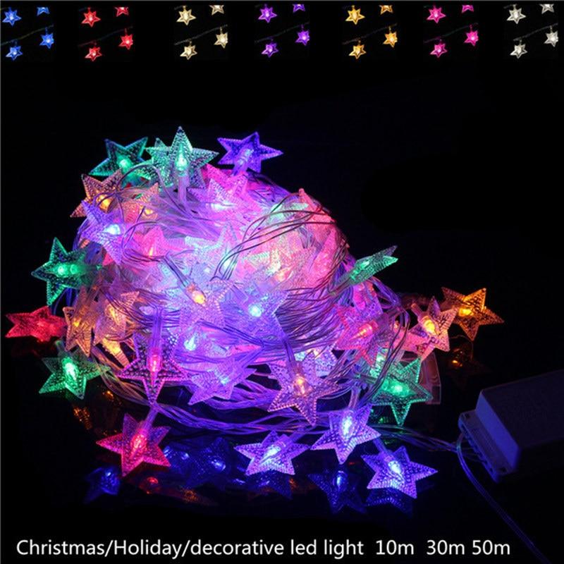 1 Stks 1 M 2 M 5 M 10 M LED Christmas Light Wo Party Tuin Xmas Batterij Led Ster String Holiday Light Outdoor Led Lamp