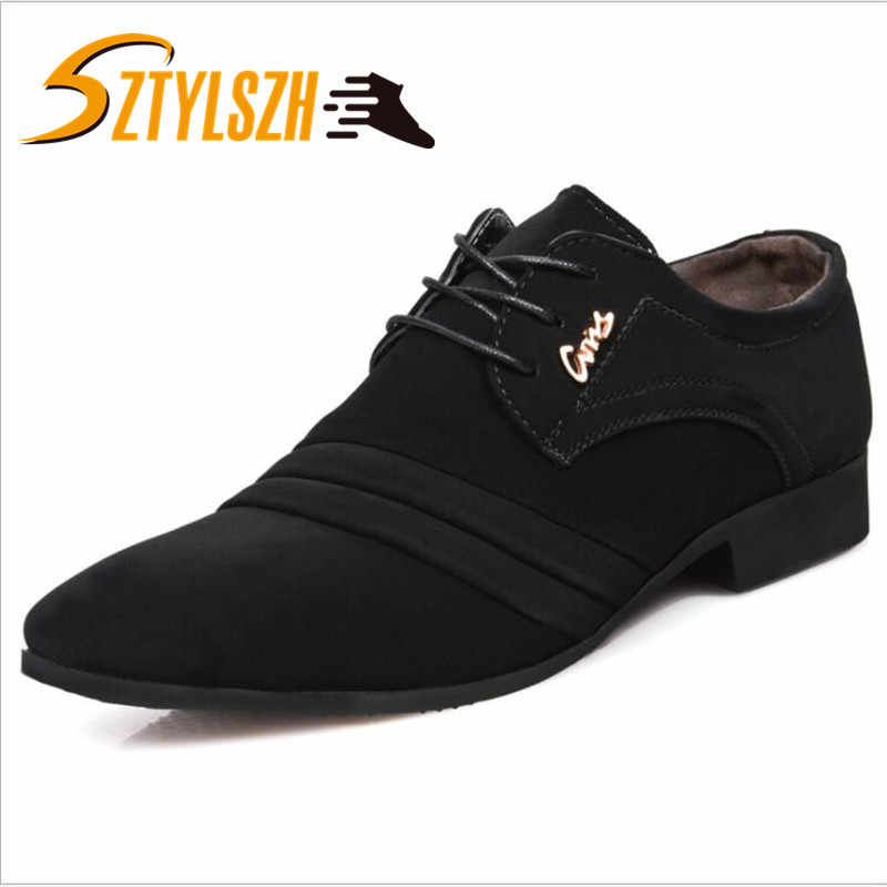 Fashion Men Suede Leather Casual Shoes Spring Men Flats Lace Up Male Oxfords Men Soft Leather Shoes Chaussure Homme size 38-45