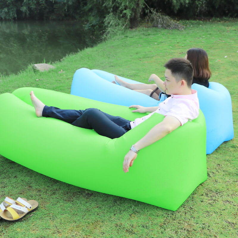 Camping Faul Tasche Legen Schlafsack Schnell Aufblasbare Luft Sofa strand Liege stuhl air Beutel Banane sofa Laybag Air Möbel