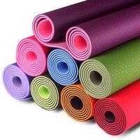 6MM TPE Non slip Yoga Mats For Fitness Tasteless Pilates Mat Gym Exercise Sport Mats Pads