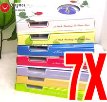 Qingmos Wünschen Perle 7 Boxen Liebe Herz Käfig Halter Colliers Halskette für Frauen Mit Anhänger Perle Halskette Oyster Geschenk Box  3621