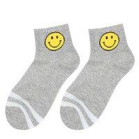 Korean Style Women Men Cartoon Emoji Smile Face Casual Sports Socks