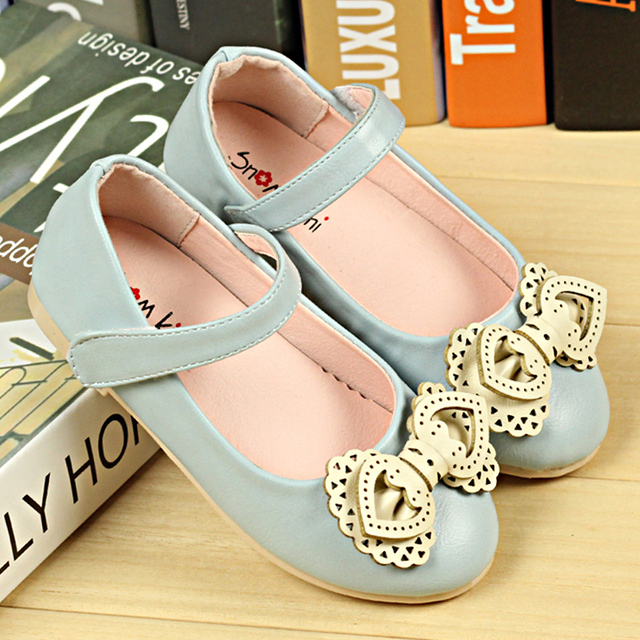 11cc5f083cb18 Bow Party Girls Dress Shoes PU Leather Rubber Toddler Sandals Wedding  Children Sneakers Tenis Chaussure Enfant Yeezy Boost 350