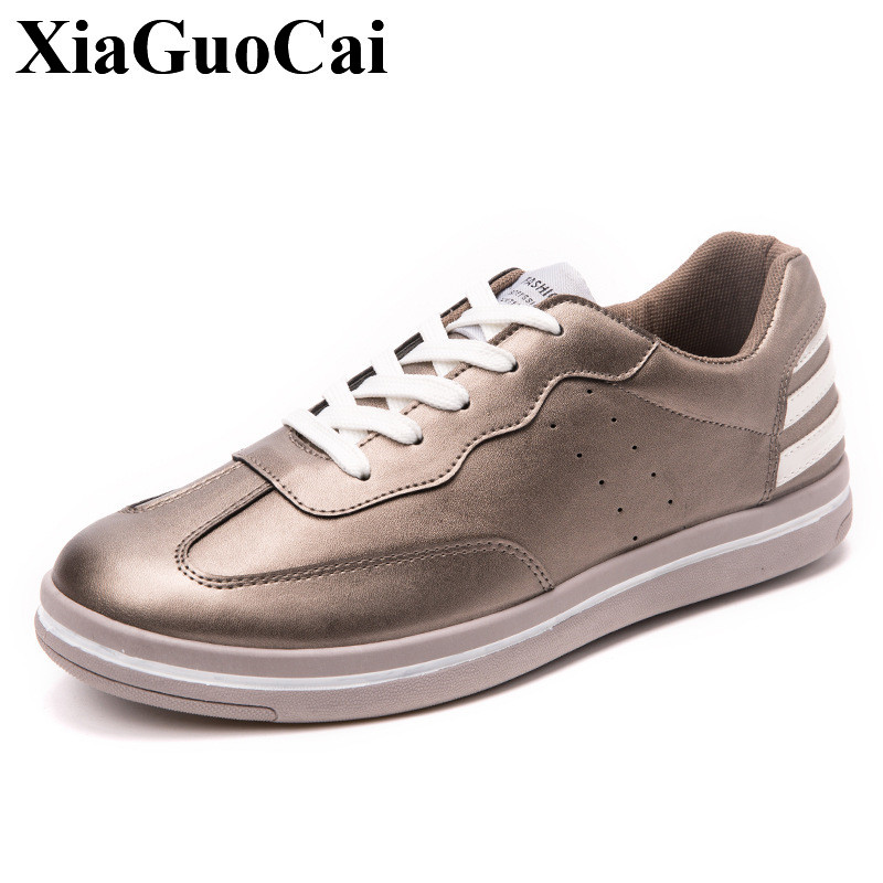 Classic Round Toe White Shoes Men Casual Shoes Summer&autumn Lace-up Flats Shoes Fashion All-match Student Single Shoes H442 35
