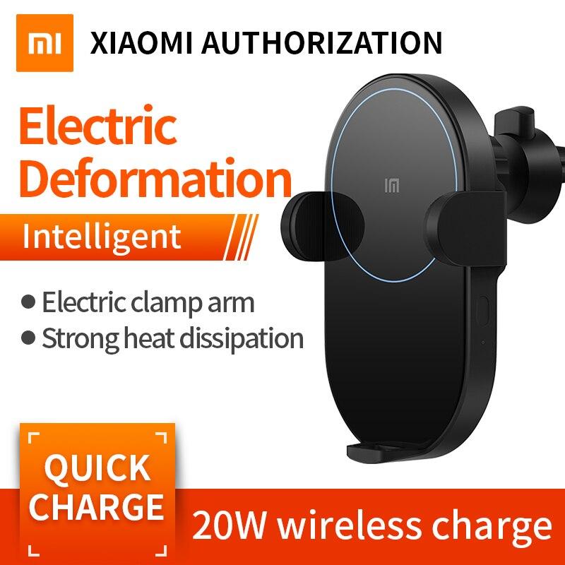 Xiao mi mi 20 W chargeur de voiture sans fil WCJ02ZM 2.5D verre électrique Auto anneau de pincement Lit de charge pour Xiao mi Smartphone