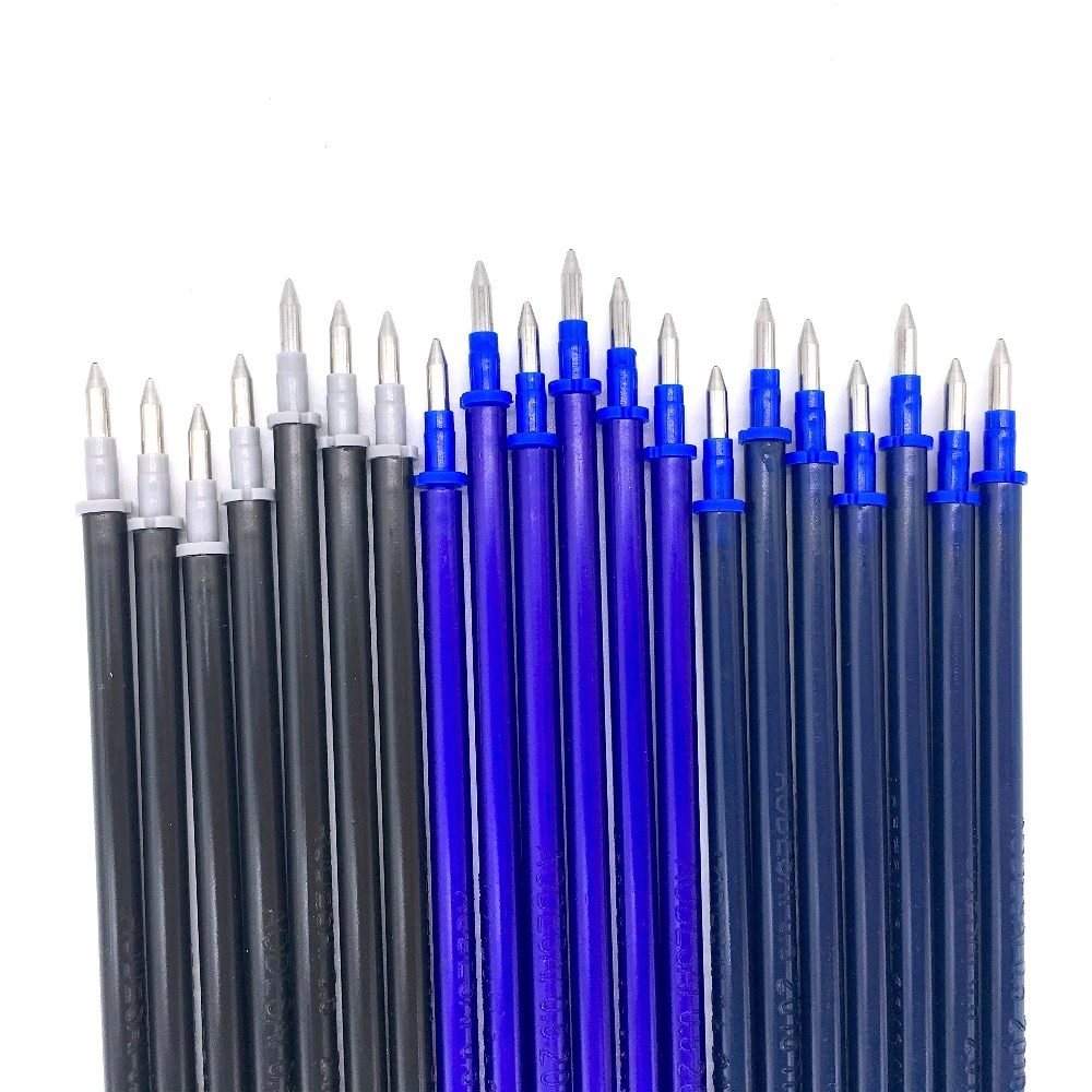 20 PCS/Lot 0.5mm Magic Erasable Pen Refill Blue Black Dark Blue Ink Gel Pen Refill For Writing Stationery Office School Supplies цена