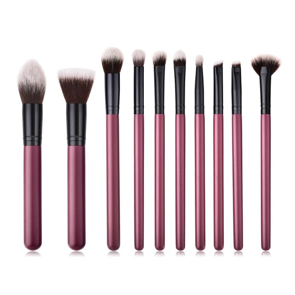 BBL 5/7/10/12/18pcs Professional Makeup Brushes Set Reals Burgundy Make Up Brush Tools Kit Powder Blush Face Brush Professional