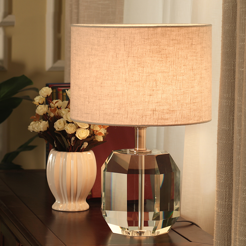 Online shop new brief style modern chrome table light crystal table nordic geometry crystal lamp shades modern table lamps for living room bedroom bedside table lamps modern mozeypictures Choice Image