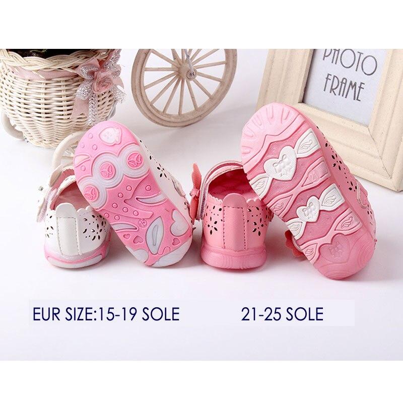 Baby Girls skórzane buty Princess butterfly-knot miękkie Toddlers - Buty dziecięce - Zdjęcie 5
