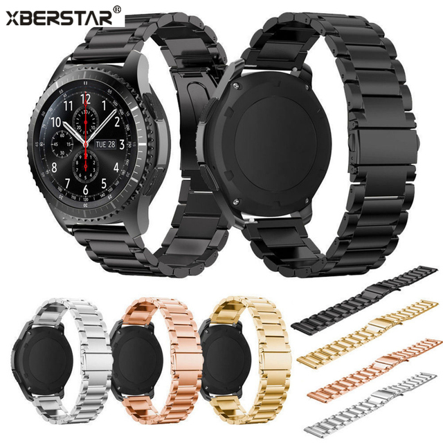 Stainless Steel Bracelet Strap WatchBands  for Samsung Gear S3 Frontier/ Classic SM-R770 SM-R760 SM-R765 Smart Watch