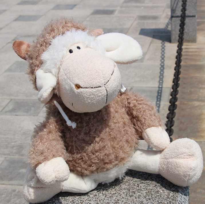 Wyprzedaż 45cm Cartoon Sheep Shawn pluszowe zabawki pluszowe kawaii bawełna zwierząt owce pluszowe lalki zabawki dla dzieci.