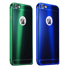 High Quality Colorful Ultra Thin Metal Case Bumper with PC back cover to Protect your Phone