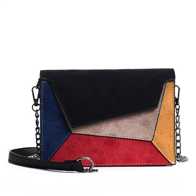 Leather Patchwork Women...