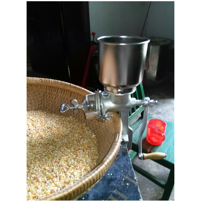 Hand operate corn maize flour mill grinder rice milling machine multifunction corn flour mill machine home use manual maize rice soybean peanut coffee cocoa beans grain grinder