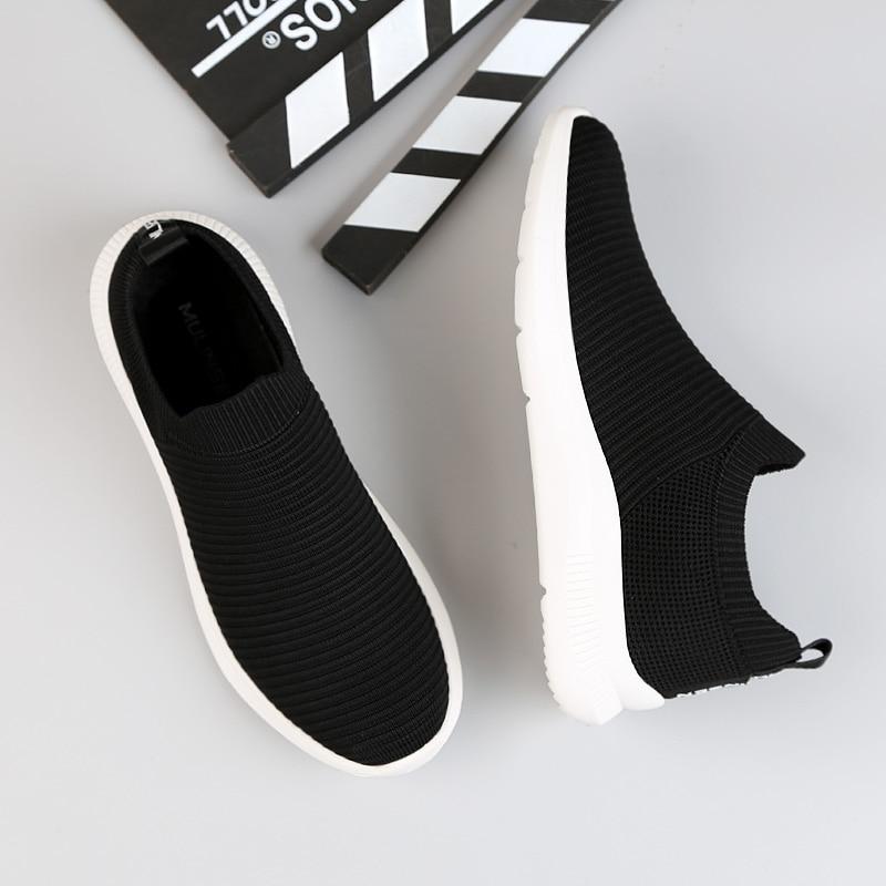 Chaussures pour hommes marée chaussures mode volant tissé résistant à l'usure antidérapant texture chaussures décontractées