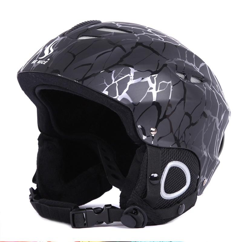 Professional Adult Youth Sports Helmets Skiing Helmet Ski & Snowboard Cool Balck Motorcycle Head Protect Winter Helmet P15 black kayak boating water sports helmet abs out shell prefessional water skiing helmet