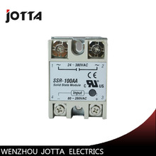 цена на SSR -100AA AC control AC SSR white shell Single phase Solid state relay