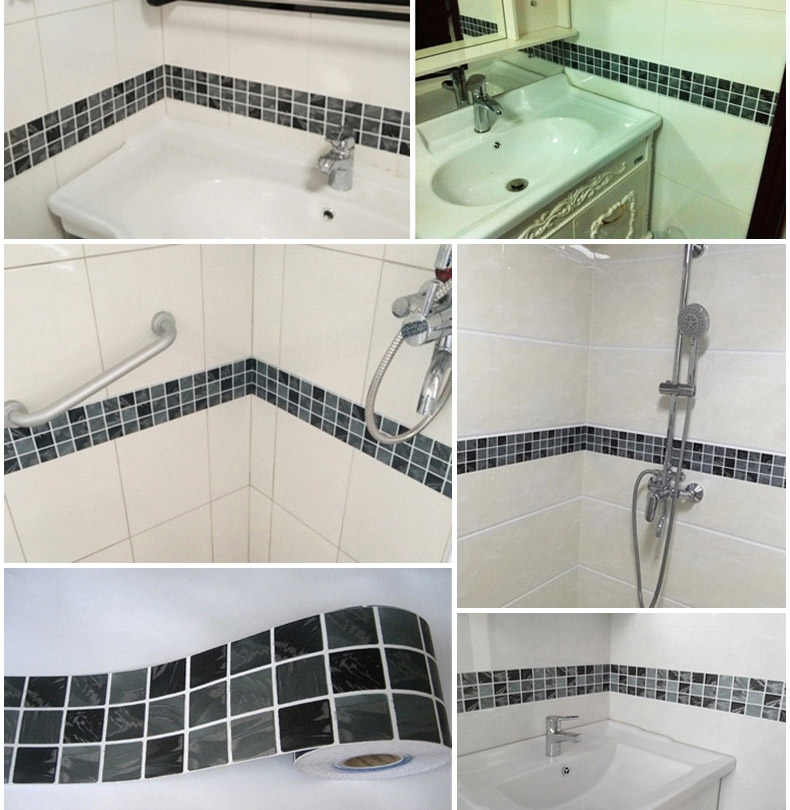 Self Adhesive Tile Stickers Part - 27: Bathroom Kitchen Wallpaper Home Decor DIY Self Adhesive Tile Stickers-in  Furniture Accessories From Furniture On Aliexpress.com | Alibaba Group