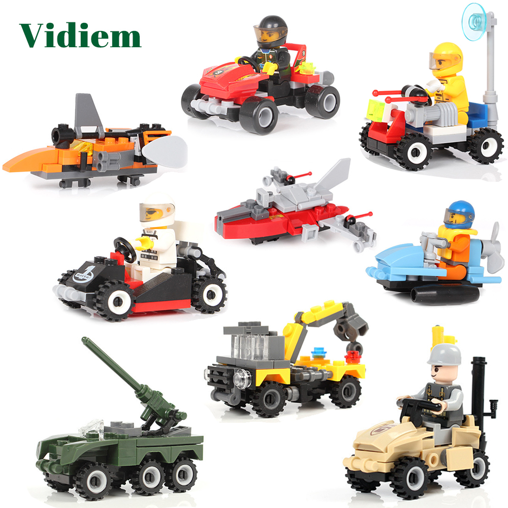 Creative Racing Car Tank Robot Series Educational Building Blocks Toys For Kids 6Years DIY Present Compatible With Small Bricks