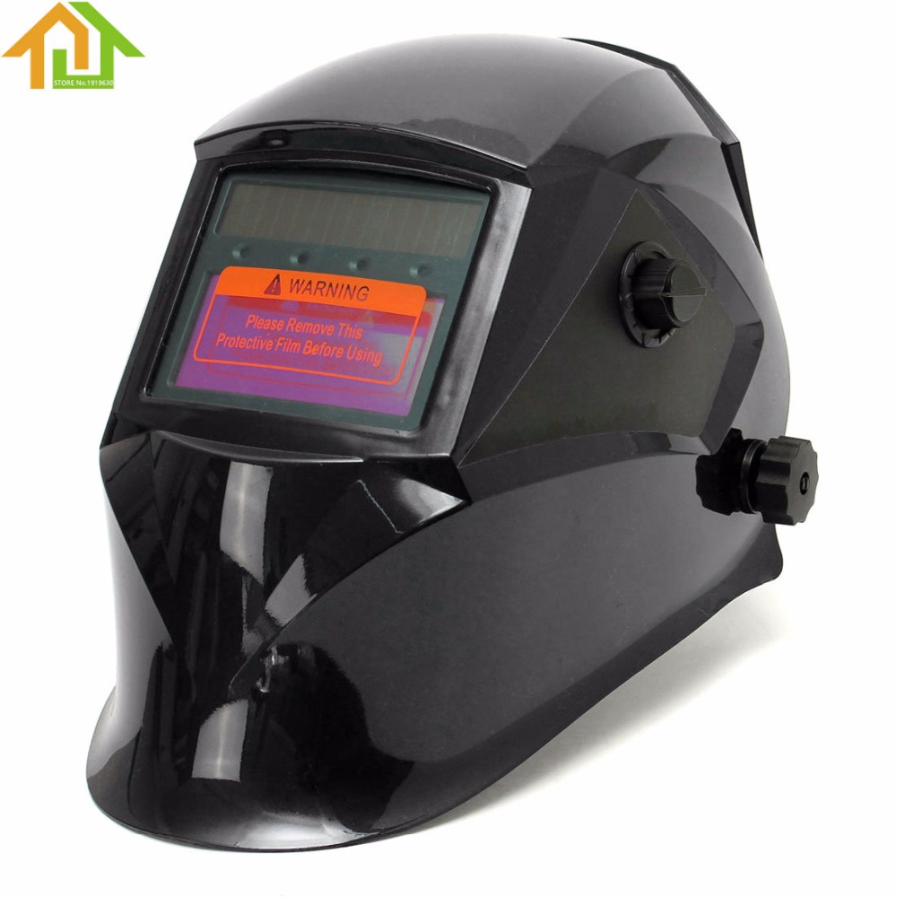 1 PCS Pro Solar Electric Welder Mask Auto-Darkening Welding Helmet Lens Grinding Welding Face Mask Cap for Welding Machine red standard design solar welding helmet auto darkening electric grinding welding face mask welder cap lens cobwebs and skull