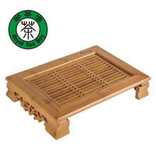 Drinkware Kung Fu Tea Set Bamboo Tea Tray Table Tea Tools High Quality Build-in Removeable Water Basin