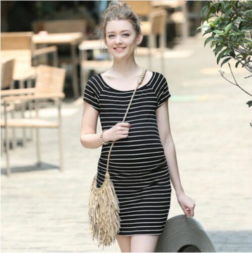 Elegant Pregnant Dresses Maternity Maternity Clothes for Pregnant Women Premama Dresses O Neck Casual Hamile Elbisesi