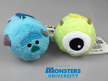 High Quality 9CM Tsum Tsum Monsters University Plush mini Doll Sulley Sullivan Michael Mike Toy Story keychian doll