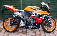 Orange Red ABS Plastic Motorcycle Injection Molding kit For 2007 2008 Honda CBR600 RR Complete Injection Fairing Kit Bodywork