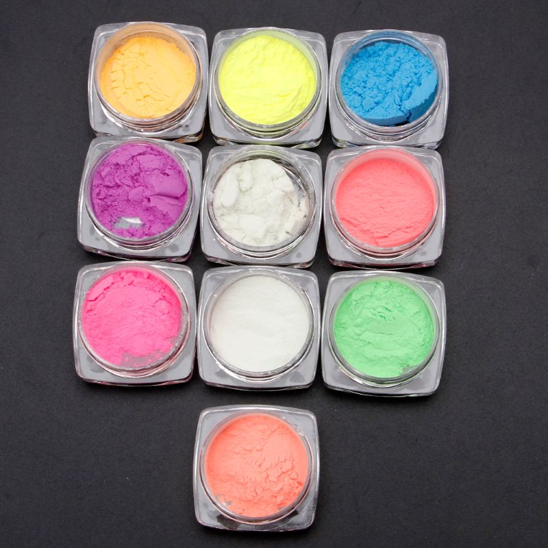 10 Colors Luminous Nail Glitter Powder Resin Neon Phosphor Pigment Dye UV Resin Epoxy DIY Making Jewelry Nail Art Decorations 5