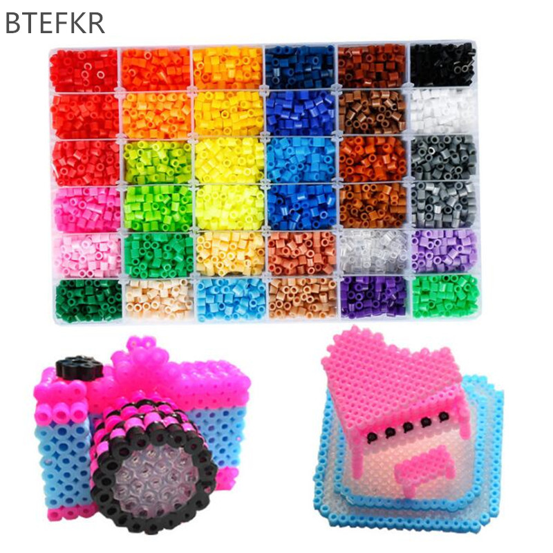 48 Colors Perler Beads 5mm Hama Beads Puzzle Education Toy Jigsaw Puzzle Fuse Bead 3D Puzzles For Children 1000pcs/bag Abalorios