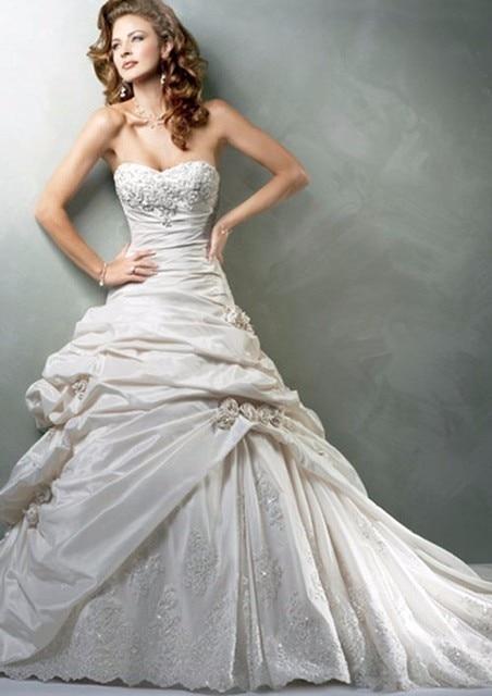 Vintage Taffeta Classic a line Wedding Dresses 2017 Sweetheart ...