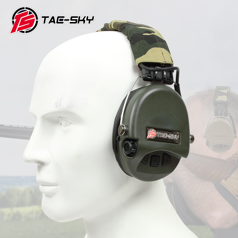 TAC-SKY SORDIN  IPSC Silicone Earmuff Version Noise Reduction Pickup Headset -FG