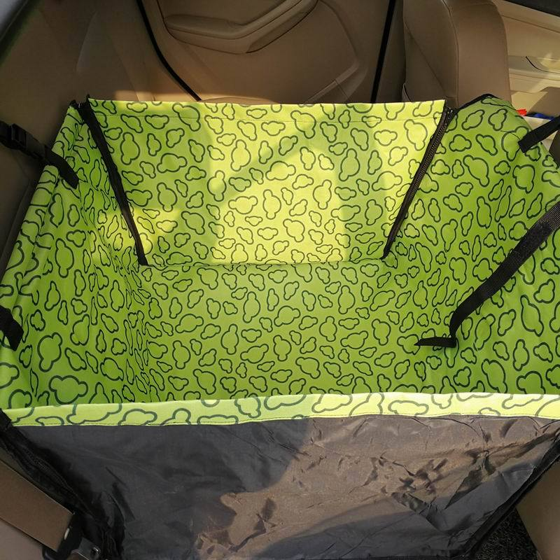 CAWAYI KENNEL PVC Waterproof Small Pet Dog Cat Car Seat Cover Mat Blanket Rear Back Dog Car Seat Protection Hammock D0041 8