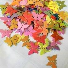 400 шт 12*17 мм Мини Смешанные Новые 2 отверстия бабочка с блестками, ручной работы сшитые Патчи ривердейл южная сторона C35A