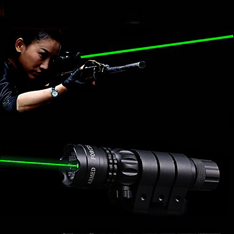 Scope Sight Barrel-Mount Rifle-Dot Aser 532nm Hunting Green Picatinny/weaver-Mounts