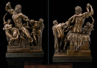 Art Deco Sculpture The Laocoon And His Sons Nude Man With Snake Bronze Statue Decoration Bronze