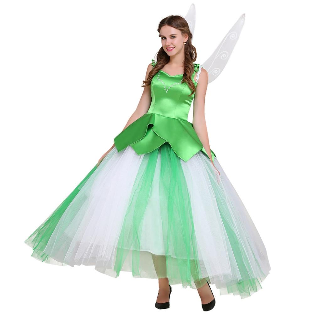 Tinker Bell Princess Dress Adult Tinkerbell Dress Costume Halloween ...