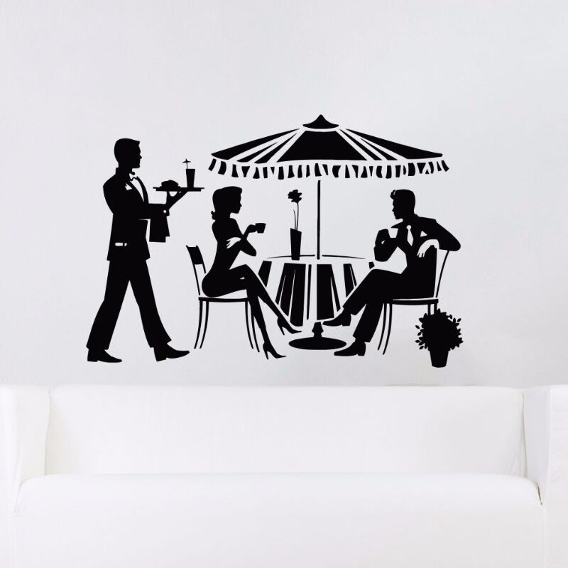 Drinking Relax Wall Decal Removable Cocktail Vinyl Sticker Shop Window Restaurant Art Mural AY407
