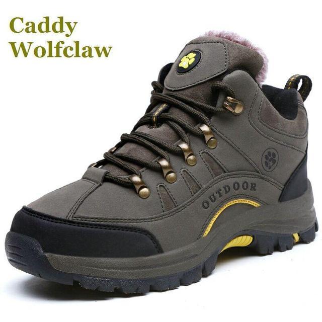 89630f3506 US $58.88  Stivali stivali autunno inverno scarpe calde donna e da uomo  outdoor inverno sneakers stivaletti femminile stile uomini scarpe da  trekking ...